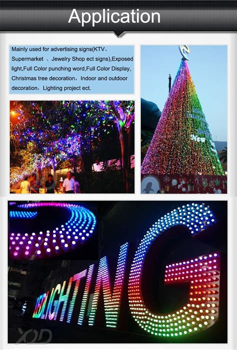 programmable christmas tree lights 12mm waterproof full color led pixel light christmas