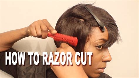 video of jow to razor cut around the ear how to razor cut a short wig detroit style wig sale