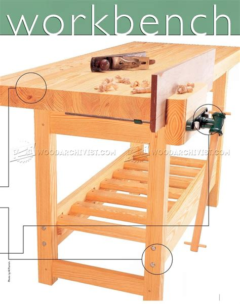 wood workbench plan woodarchivist