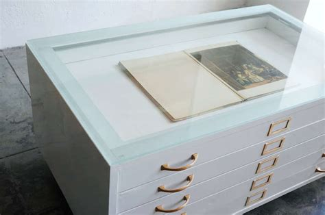 Flat File Cabinet Coffee Table by Flat File Cabinet Coffee Table In High Gloss White With