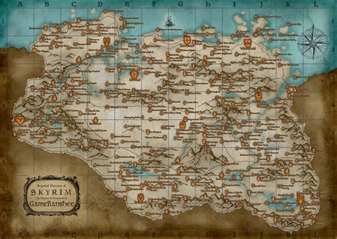 map of skyrim the elder scrolls v skyrim trophy guide road map playstationtrophies org