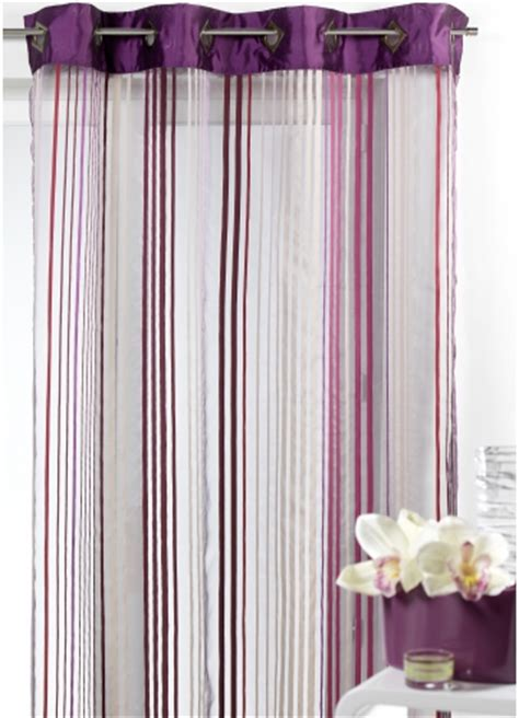 Voilages Blancs 520 by Voilages Sheer Curtain Elise White Embroidered Sheer
