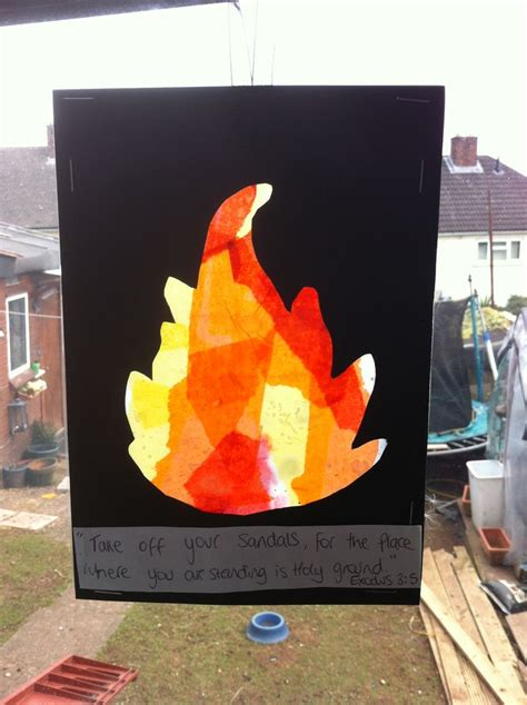 window on a burning books moses and the burning bush craft laminating pouch