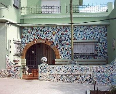 mosaico casa arquitectura de casas fachada con mosaicos de azulejos