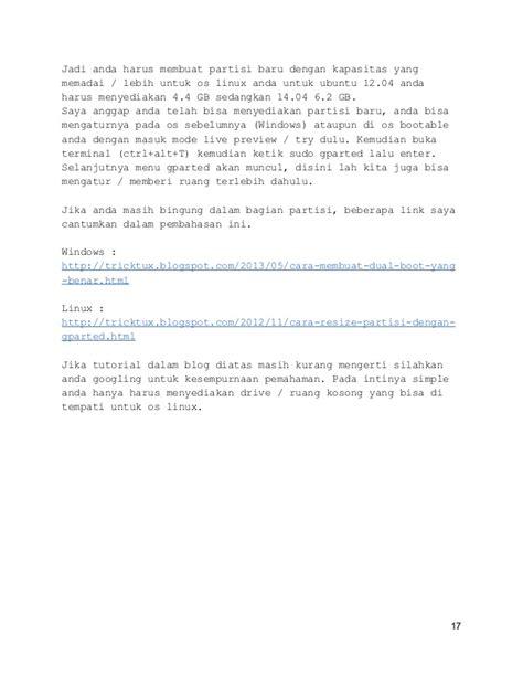 tutorial ubuntu lengkap pdf tutorial cara instalasi ubuntu linux lengkap