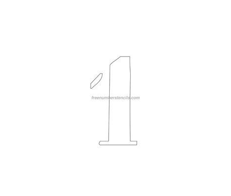 printable curb number stencils free curb painting 1 number stencil freenumberstencils com