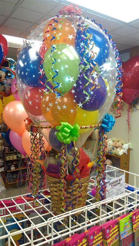 mini hot air basket balloon decorations