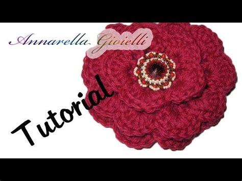 fiore uncinetto facile tutorial uncinetto fiore 3d facile facile rosa uncinetto