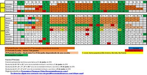 calendario escolar  inicio das aulas feriados  ferias