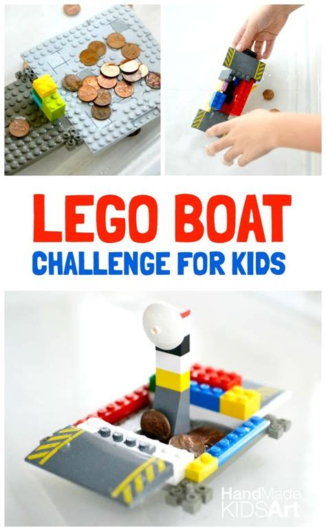 lego boat challenge lego boat engineering challenge for kids coins head to