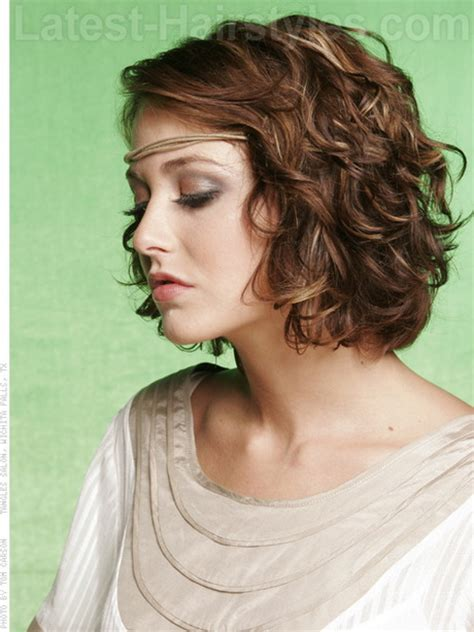 Hairstyles For Curly Medium Hair by Shoulder Length Hair With Wave Perm