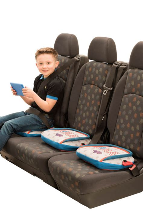 bubblebum travel car booster seat and stripes