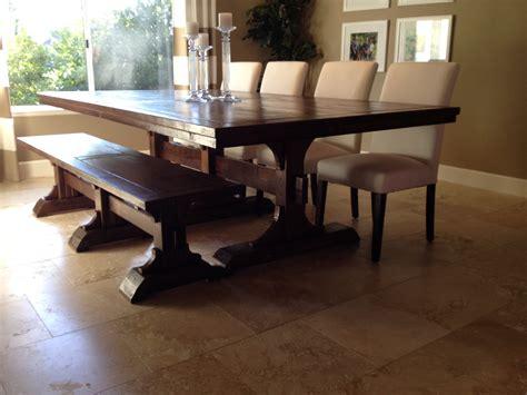ana white farmhouse table bench ana white triple pedestal farmhouse table and bench
