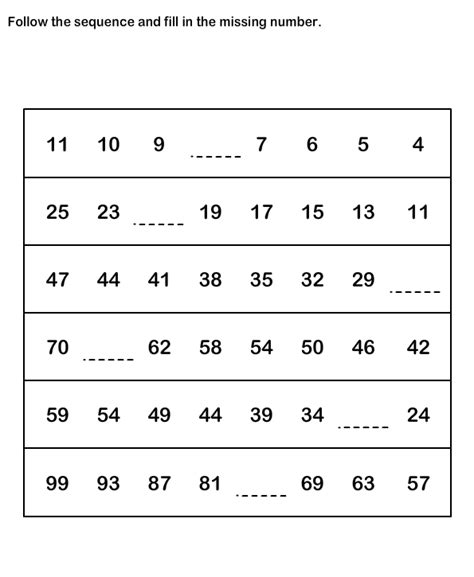 number pattern worksheet grade 2 learn from number sequence worksheets free number