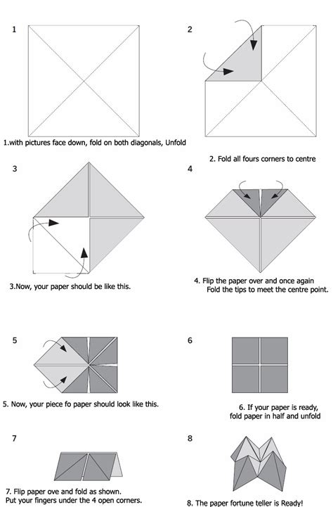 How To Make Origami Fortune Teller - how to make a fortune teller www pixshark images
