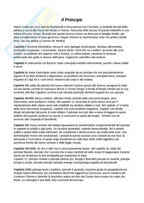 principe e delle lettere principe di machiavelli appunti di letteratura italiana