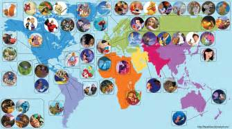 A Map Of The World Movie by Disneytheory Com Connecting Every Disney Movie From