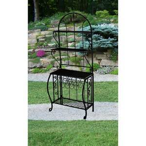 Walmart Bakers Rack Bakers Rack Oak And Wrought Iron Bakers Rack With Drawers