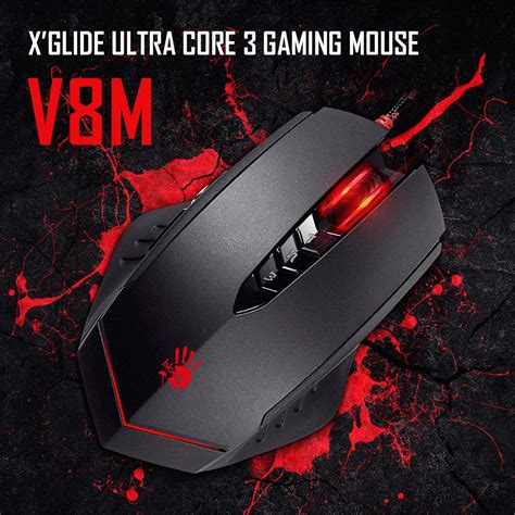A4tech Bloody V4ma 3200dpi Optical Macro Gaming Mouse With Metal a4tech gaming mouse wired multi gun3 v8m led optical