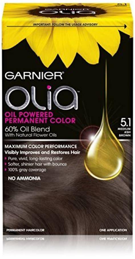 garnier olia light ash brown 6 1 garnier olia oil powered permanent hair color 5 1 medium