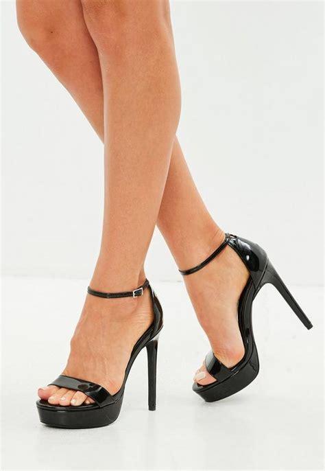 Black Simple Heels 5cm black simple high platform sandal missguided