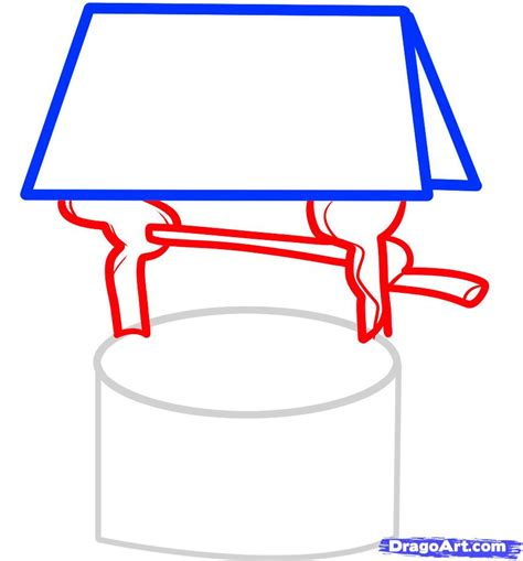 make a drawing how to draw a well wishing well step by step other