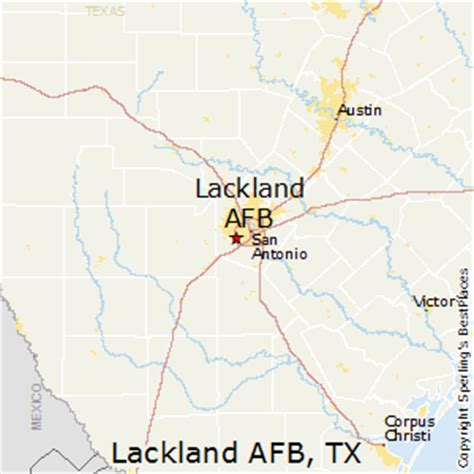 afb in texas map best places to live in lackland afb texas
