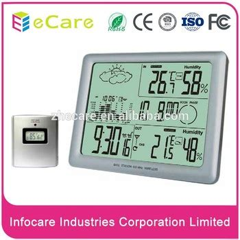 durable radio controlled home digital weather station for