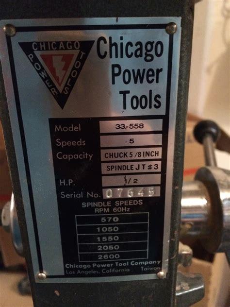 Chicago Drill Press Model 33 556 Diy Forums