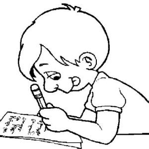 boy writing coloring page a nice boy is ready for the first day of school coloring