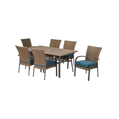 Rattan Patio Dining Set Hton Bay Corranade Wicker Outdoor Dining Set With Chairs Sets Brisbane Stunning