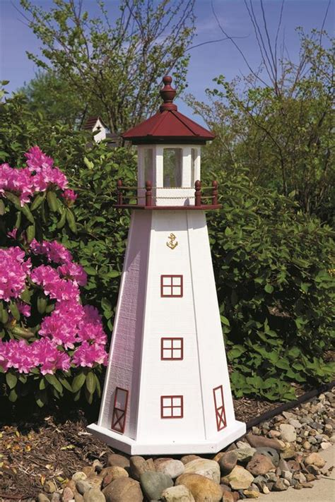 Wood Garden Decor Marblehead Wooden Garden Lighthouse By Dutchcrafters Amish Furniture
