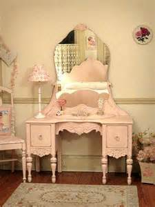 Shabby Chic Bedroom Vanity Pretty In Pink Vanity With Mirror And Chair Closet