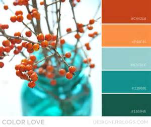 what colors go with orange color love orange and teal designerblogs com
