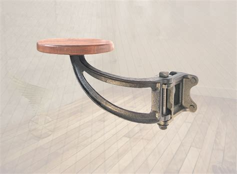 swing arm bar stools swing out seat suspended cast iron swing arm bar stool