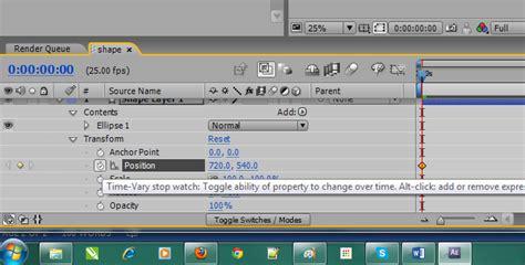 tutorial after effect dasar tutorial dasar after effect tutorial mengubah posisi