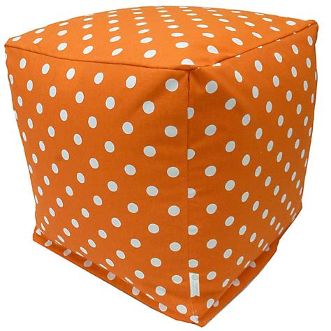 Polka Dot Bean Bag Chair by Shop Majestic Home Goods Tangerine Small Polka Dot Bean