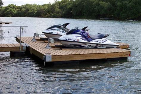boat dock diy diy double pwc dock kit floating boat dock with swim