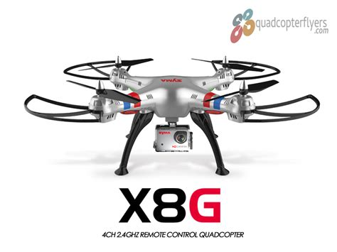 syma x8g quadcopter with gopro style look