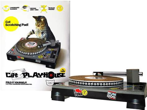 cat scratch dj deck uk cat playhouse dj deck scratch pad chewy