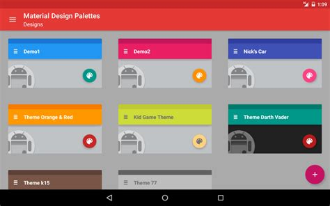 android health app design building the listview with material design palettes android apps on google play