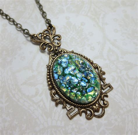 green opal necklace green fire opal necklace pendant green opal necklace emerald