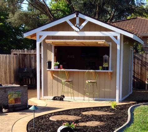 How To Make A Bar Shed From A Backyard Garden Shed Backyard Bars Designs