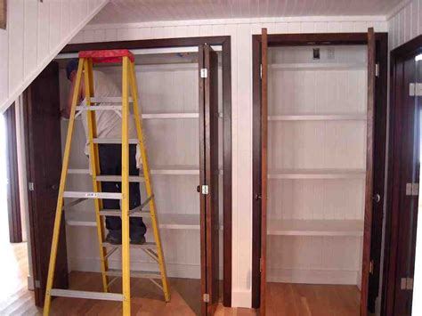 How To Install Bifold Closet Doors Interior Buzzardfilm How To Replace Bifold Closet Doors