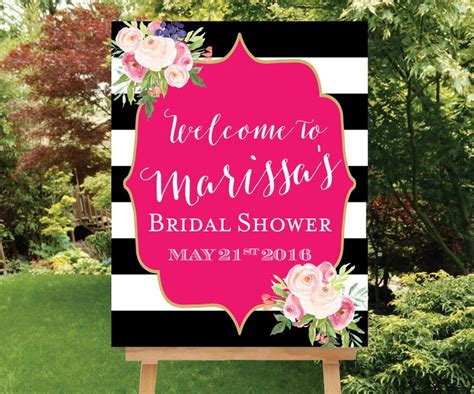 Welcome To Bridal Shower Sign by Kate Spade Shower Welcome Sign Large Welcome Sign Baby