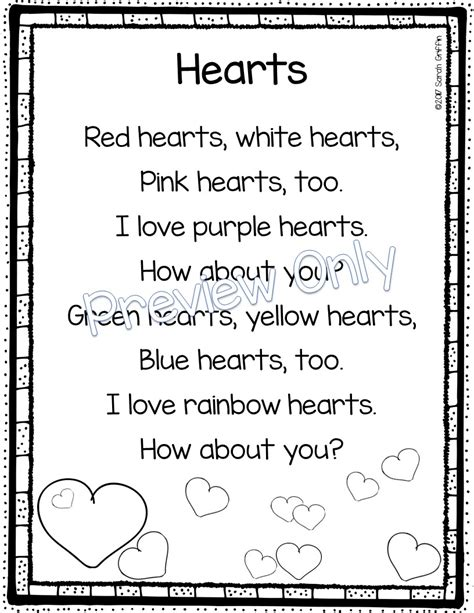 valentines day poems for daughters daughters and kindergarten 5 s day poems for