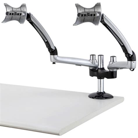 dual monitor arms for desk dual monitor desk mount for apple w spring arm dm gs2a