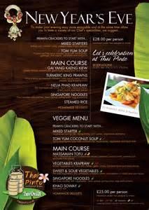 new year s eve menu thai pinto restaurant