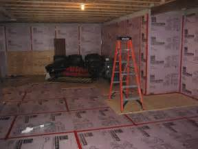sub in basement diy basement subfloor options ideas new basement ideas