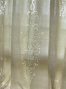 Cotton Lace Curtains Tab Top Country Cotton Linen Crochet Lace Curtain Panel 008